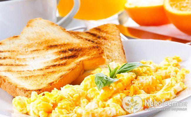 Меню сніданку впливає на апетит