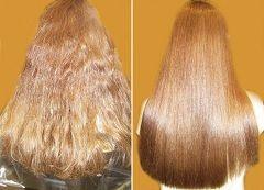 До і після бразильського випрямлення волосся