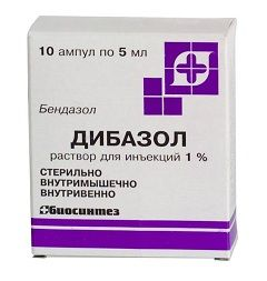 Дибазол у вигляді розчину для ін`єкцій