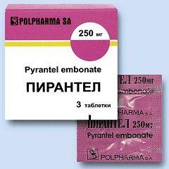 Пірантел - один з препаратів для лікування гельмінтозу