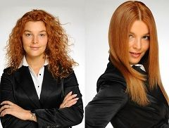 До і після хімічного випрямлення волосся
