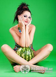 Низька калорійність кавуна робить плід дієтичним продуктом