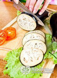 Калорійність баклажанів, запечених з овочами - 50 ккал на 100 грам