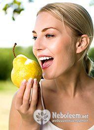 Низька калорійність груші робить цей плід хорошим інгредієнтом для дієти