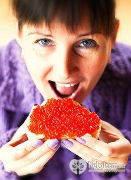 Харчова цінність і калорійність червоної ікри