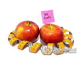 Калорійність яблук червоних - 47 калорій на 100 г