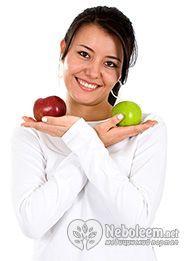Калорійність яблук зелених - 37 ккал на 100 г