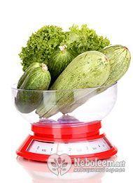 Калорійність кабачків свіжих - 20 ккал на 100 грам