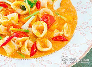 Низька калорійність кальмара дозволяє застосовувати його в дієтах