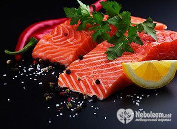 Калорійність лосося варіюється від 100 до 208 ккал в 100 г