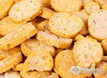 Калорійність сухарів з чорного, білого хліба і з здоби