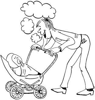 палить батько і немовля