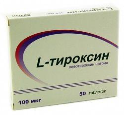 L-Тироксин в таблетках 100 мкг