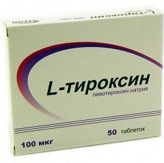 Таблетки Л-Тироксин 100 мкг
