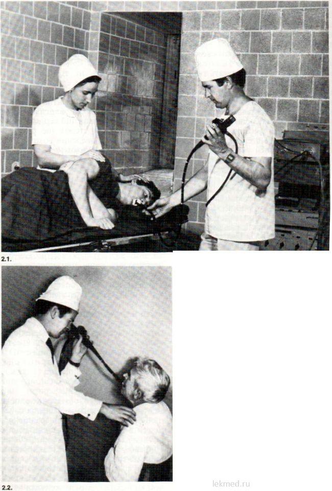 Езофагоскопія в положенні хворого лежачи на боці