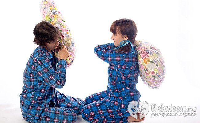Уникайте активних занять перед сном