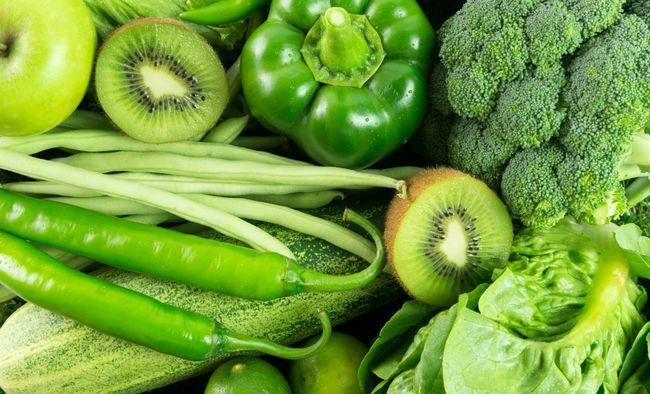 Користь зелених овочів і фруктів