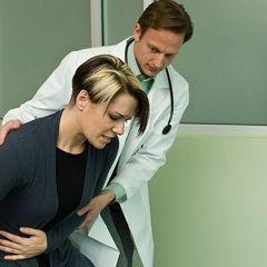 Болі внизу живота - один із симптомів пахового лімфаденіту