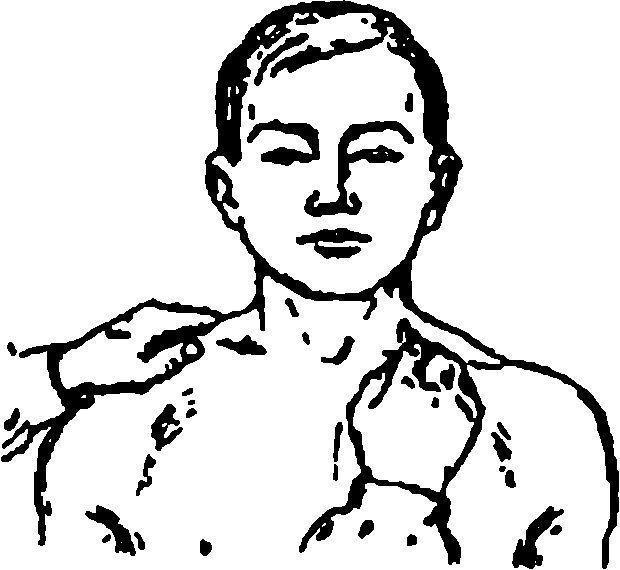 Пальпація лімфатичних вузлів надключичной області