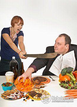Небезпечні симптоми переїдання