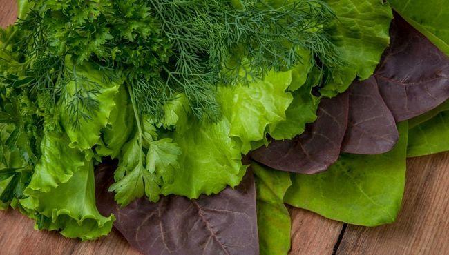 листові овочі