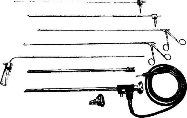 Комплект інструментів дихального бронхоскопа