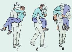 Способи транспортування потерпілого, коли допомогу надає одна людина