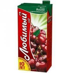 Калорійність вишневого соку - 47 ккал на 100 г