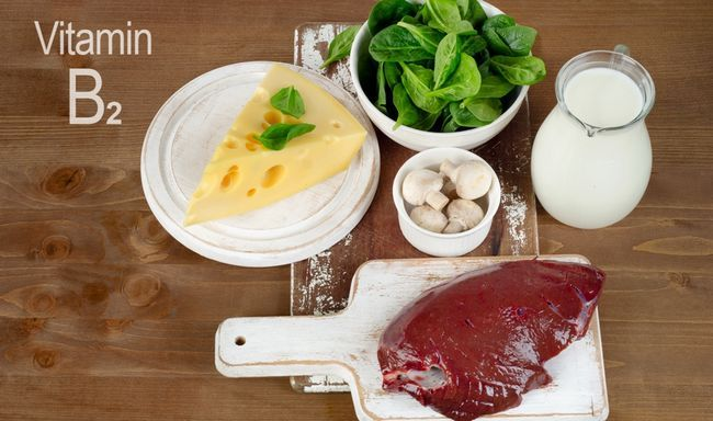 Вітамін B2 в продуктах харчування