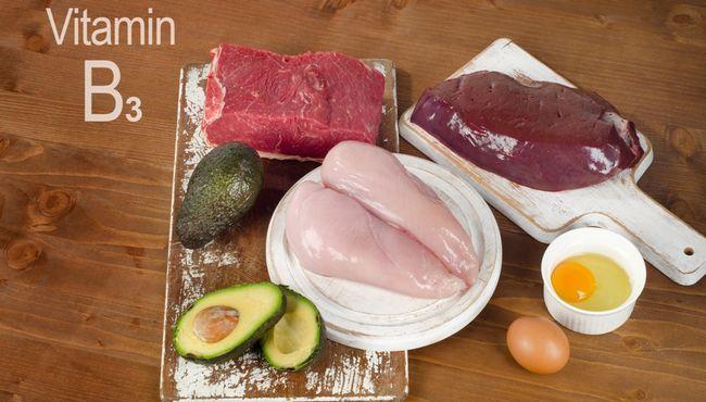 Вітамін B3 в продуктах