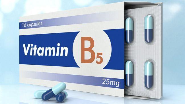 Вітамін B5 в капсулах